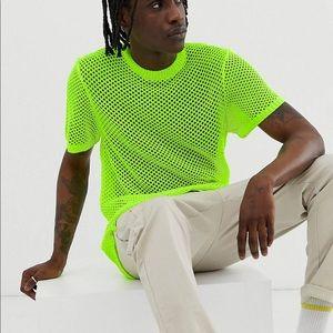 Neon mesh shirt